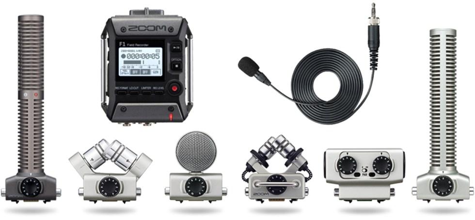 Zoom F1 field recorder mic