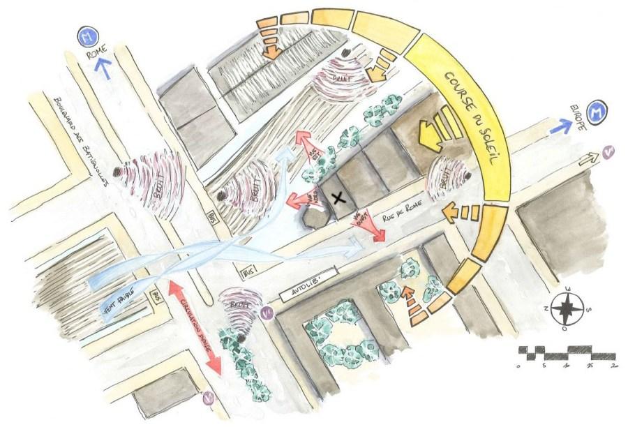 Dessin : plan d'implantation et analyse de site