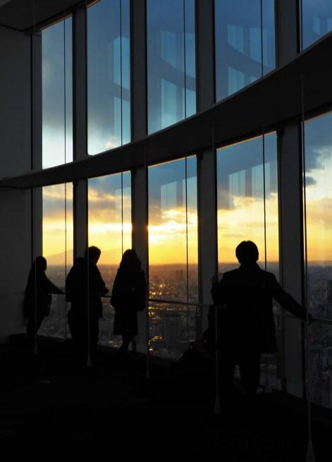 Au 52ème étage de la Tour Mori, la vue est imprenable sur tout Tokyo
