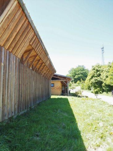 Perspective extérieure de l'Eco-Centre du Périgord Limousin