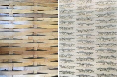 Coffrage et impression bambou sur béton
