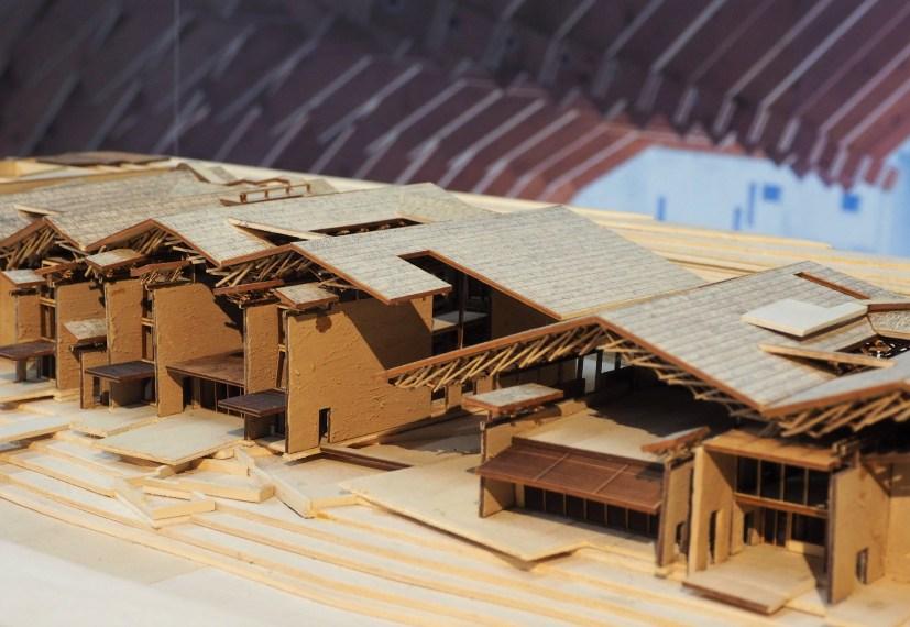Maquette de la Maison d'hôtes Wa Shan - Un toit qui évoque la montagne