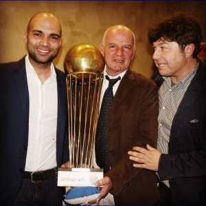 Coppa Italia Napoli Basket, il presidente Ciro Ruggiero con i dott. Luigi Loreto e Luca Loreto