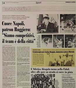 Cronache di Napoli: Fisioterapia per il play Roberto Maggio del Napoli basket