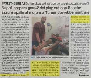 Il Roma Napoli basket prepara gara2 Elston Turner in cura presso lo Studio Delos Fisioterapia
