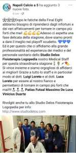Riabilitazione Napoli c5 dopo final eight di coppa italia