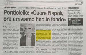 Mattia Mastroianni del Napoli basket riabilitazione allo Studio Delos