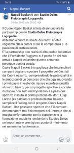 Napoli basket partnership riabilitazione studio delos fisioterapia