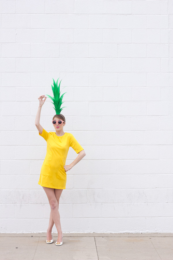 DIY Pineapple Costume For Halloween