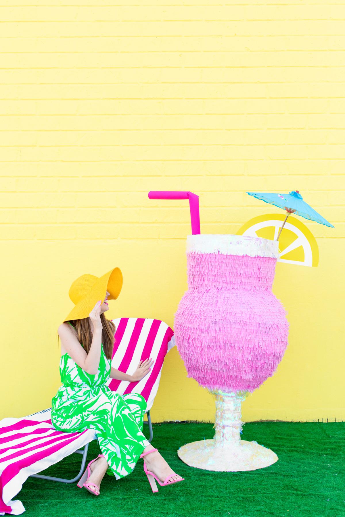 DIY Tropical Drink Piata Studio DIY