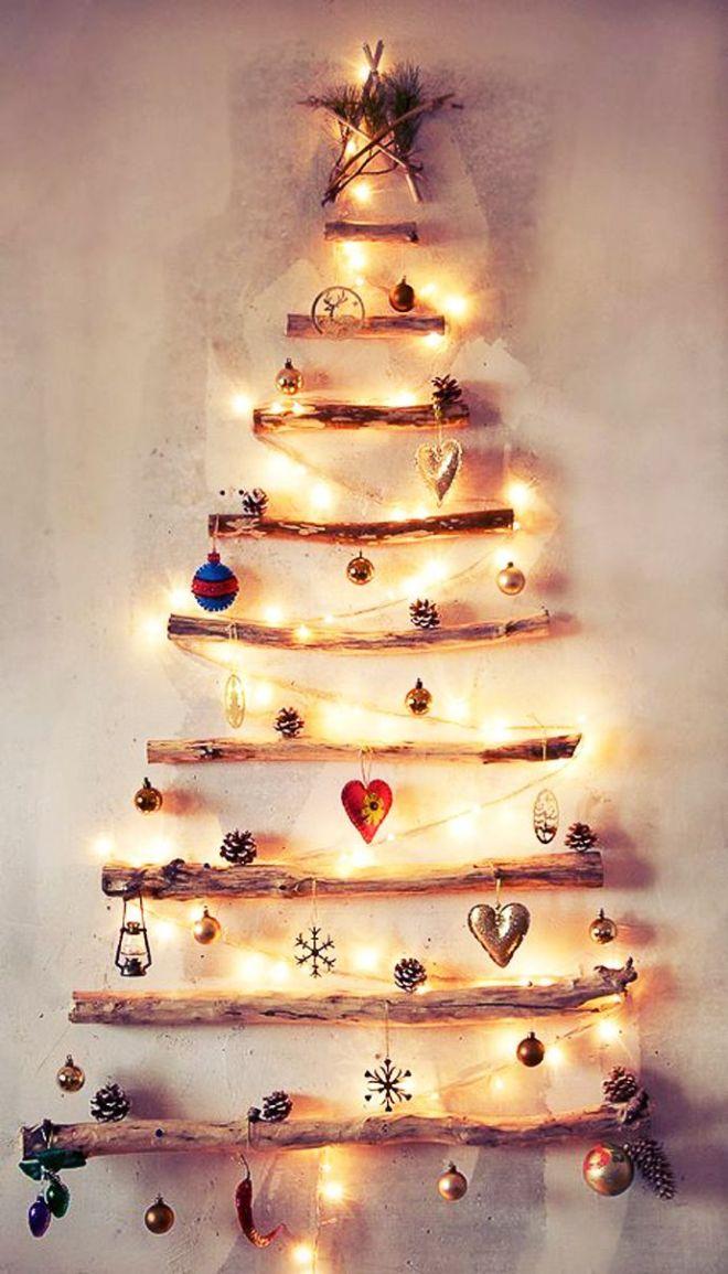 árboles de navidad originales con luces blancas
