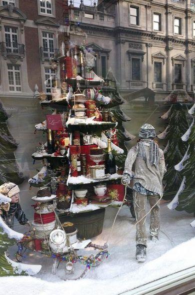 escaparates de navidad realistas y diferentes