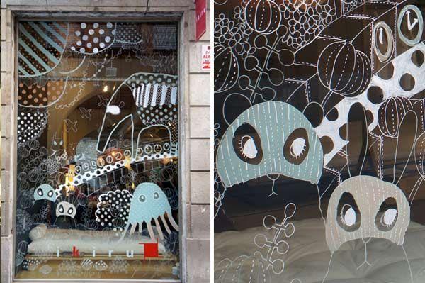 Gráficos en los escaparates, diseño completo