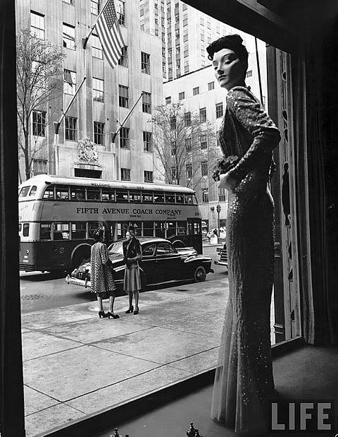 Escaparate de los años 1940 en New York