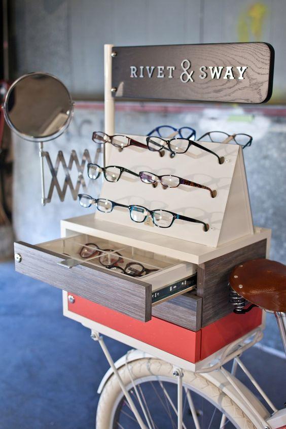 Expositor de gafas para óptica pop up