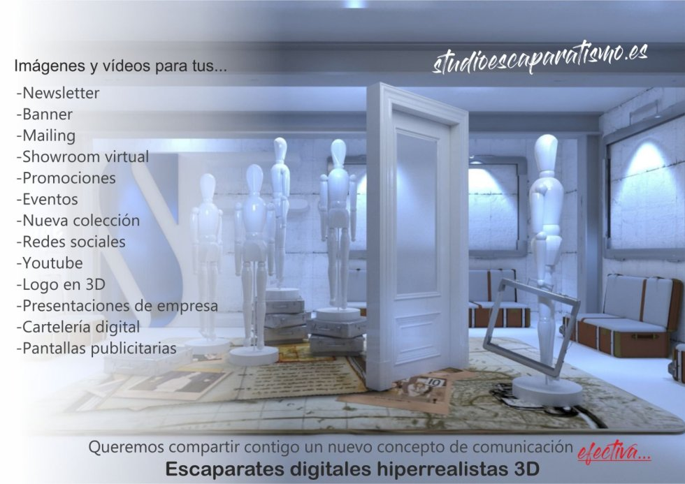 Escaparatismo digital hiperrealista