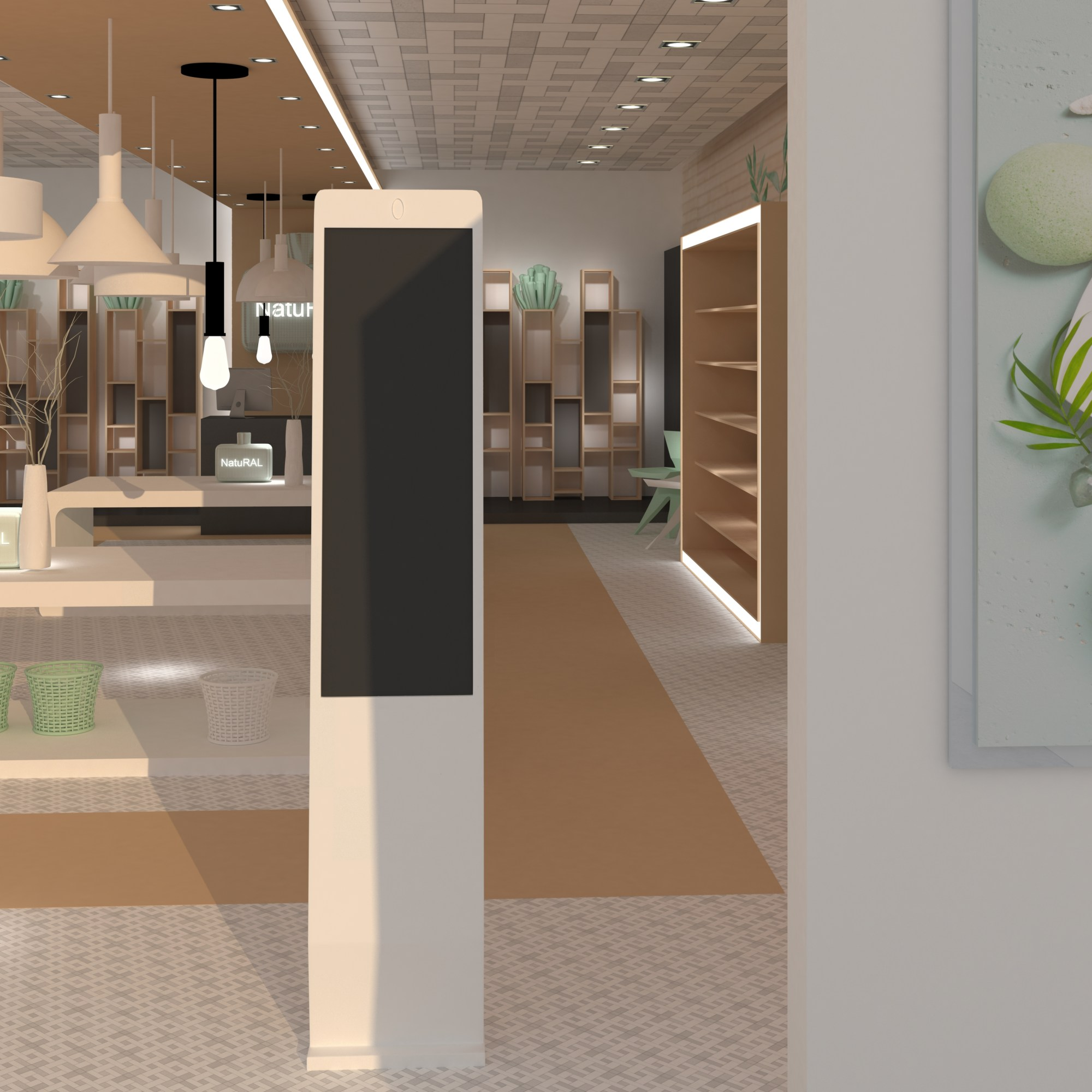 Diseño de tienda con digital signage. Escaparatismo.