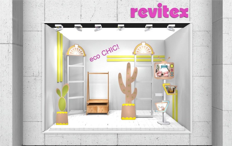 Escaparatismo - visual merchandising para tiendas de hogar - cactus cartón - 3d
