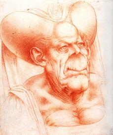 Grotesque Head I Da Vinci