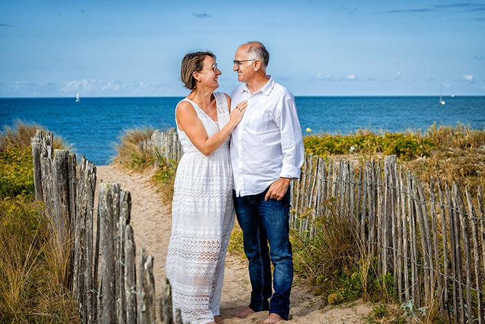 portrait de couple mer Bretagne