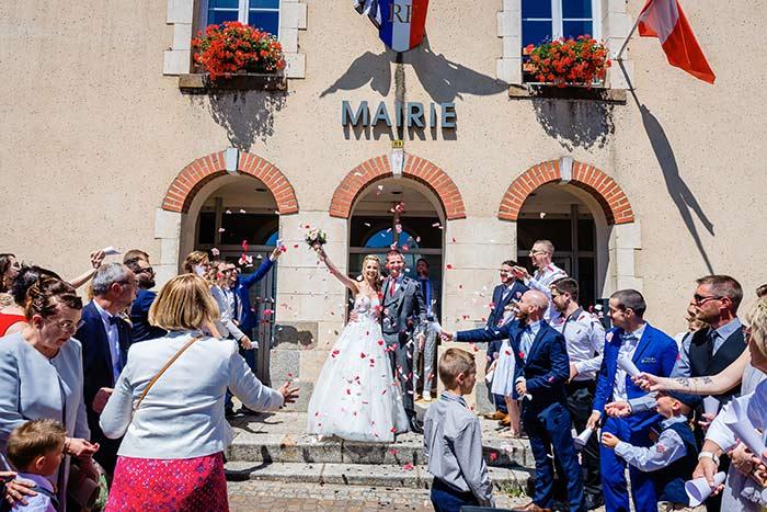 sortie mairie mariage