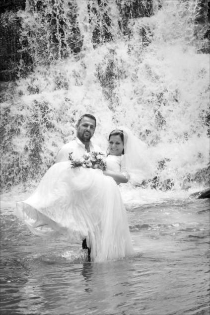 Plener wodospad w Iwli