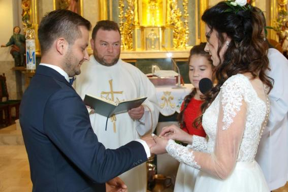 Przysięga małżeńska Kasi i Sławka