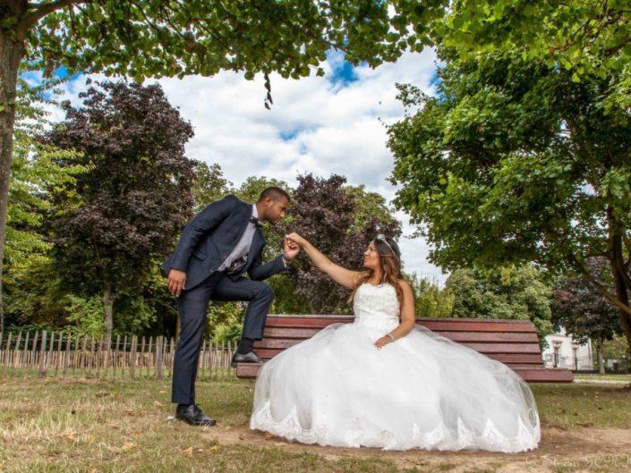 reverence de mariage dans parc