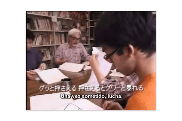 Hiromasa Yonebayashi durante la producción de El viaje de Chihiro (2001)