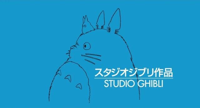 Así empiezan todas las películas de Studio Ghibli. En ocasiones especiales se usa otro color de fondo.