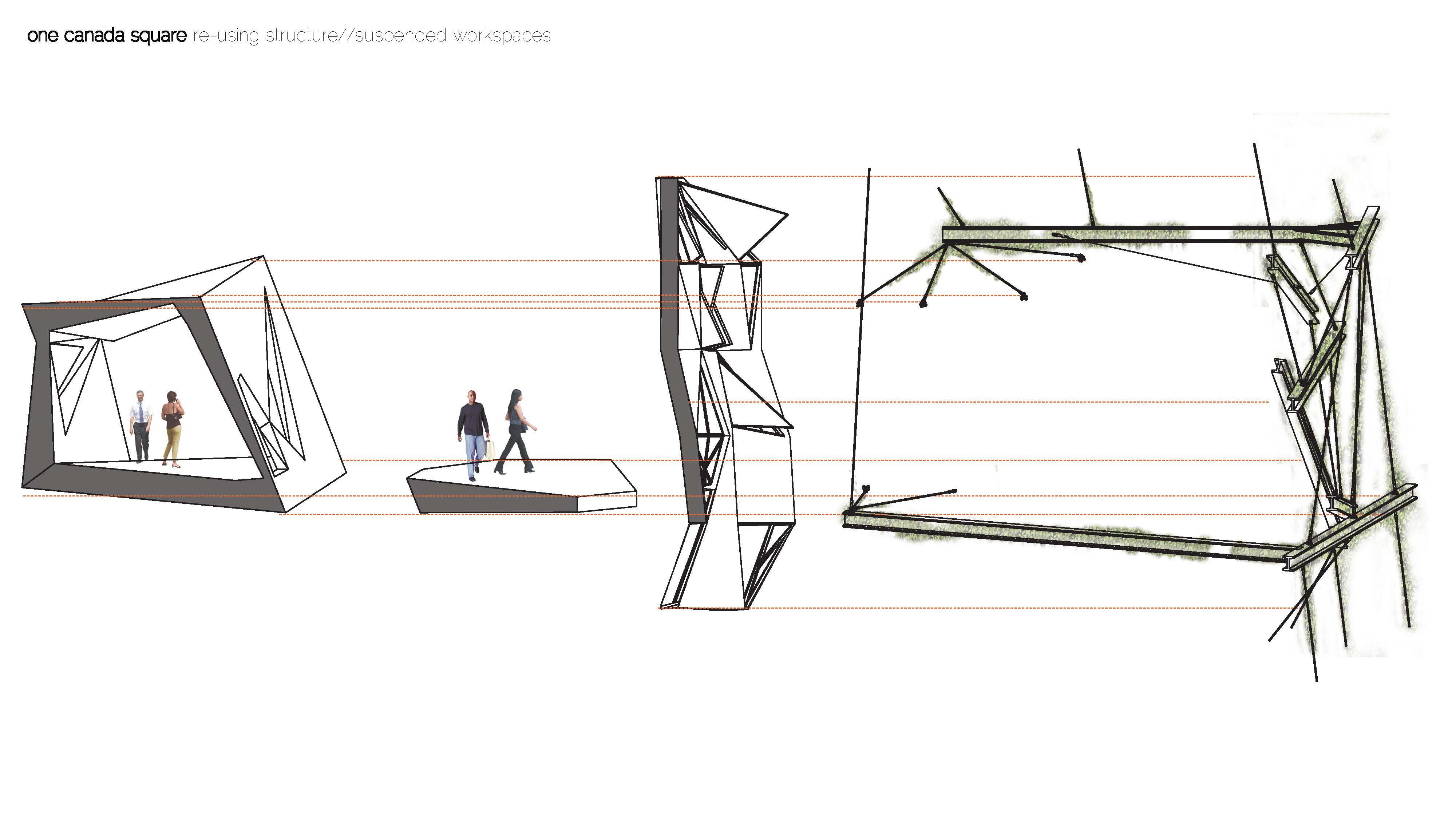 Structural Development Creating A Suspended Structure