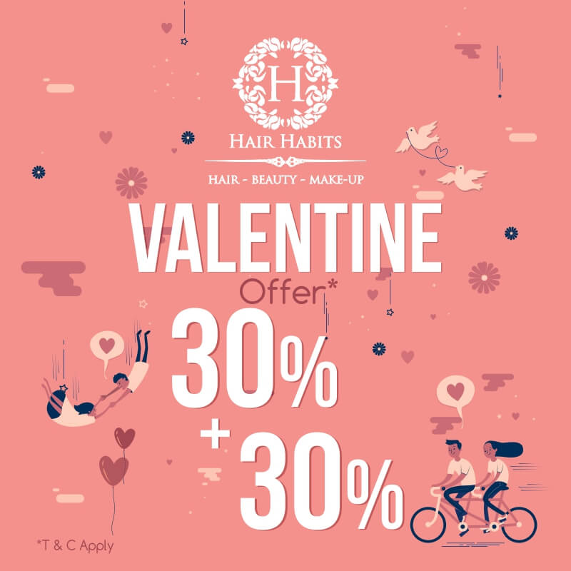 Nagpur salon valentines offer Hair Habits Sadar