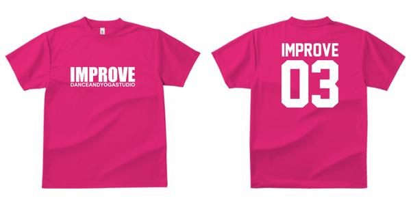 STUDIO-IMPROVE-T-SHIRTS-ピンク