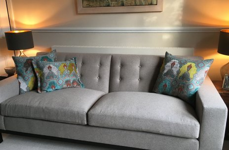 Upholstery and cushions image courtesy of Studio Interiors