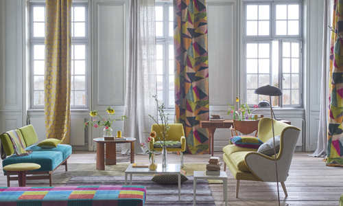 Fabrics, wallpapers, upholstery and cushions image courtesy of The Designers Guild