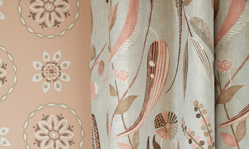 Fabrics, wallpapers, upholstery and cushions image courtesy of Nina Campbell © at Osborne & Little Ltd.