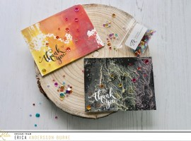 Distress Oxide Thank You cards with Erica