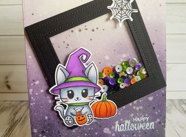 Halloween Shaker Card with Rowena