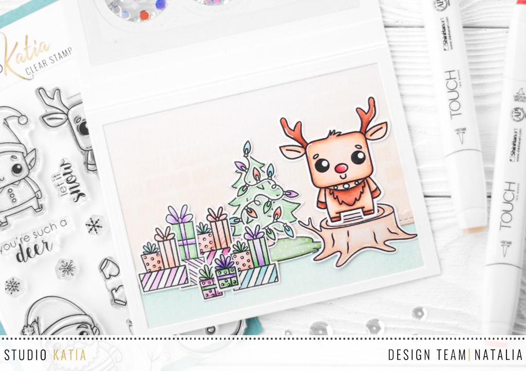 Three Interactive Christmas Cards with Natalia