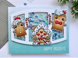 Frosty Gingerbread Shaker Card
