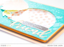 Stenciled Background Shaker Card with Laura