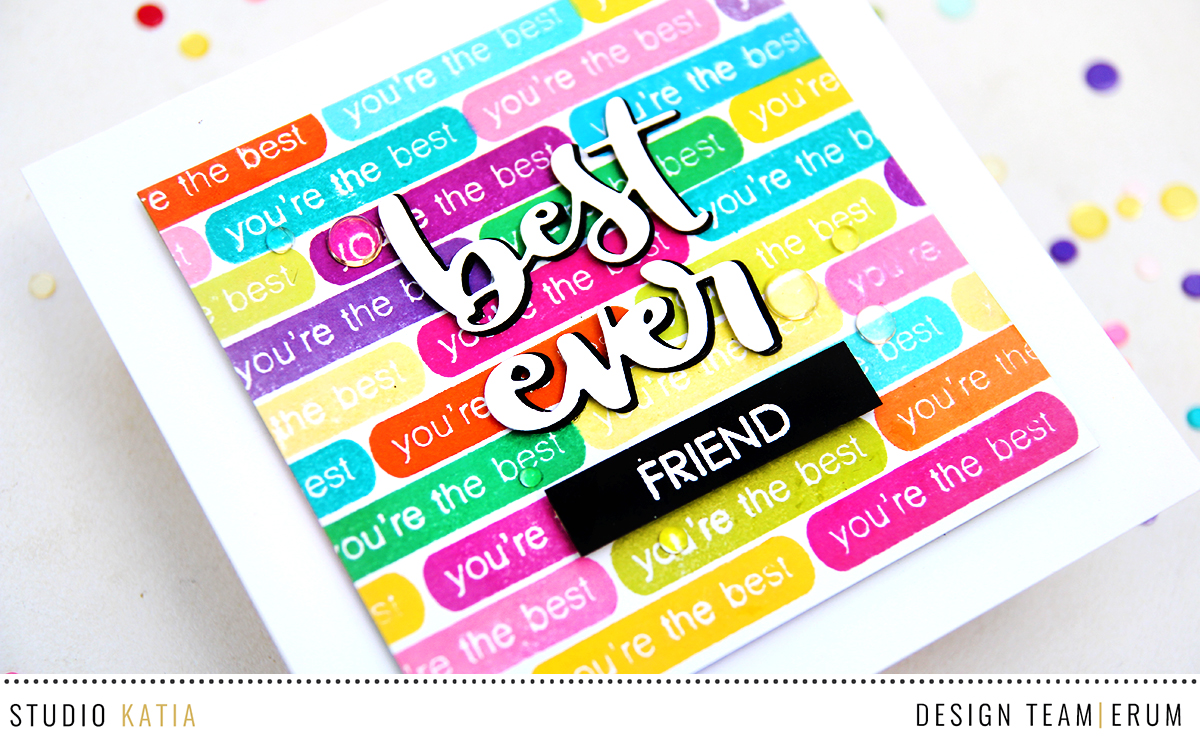 Studio Katia Label Messages Stamp Set and Best Ever Die Set | Erum Tasneem | @pr0digy0