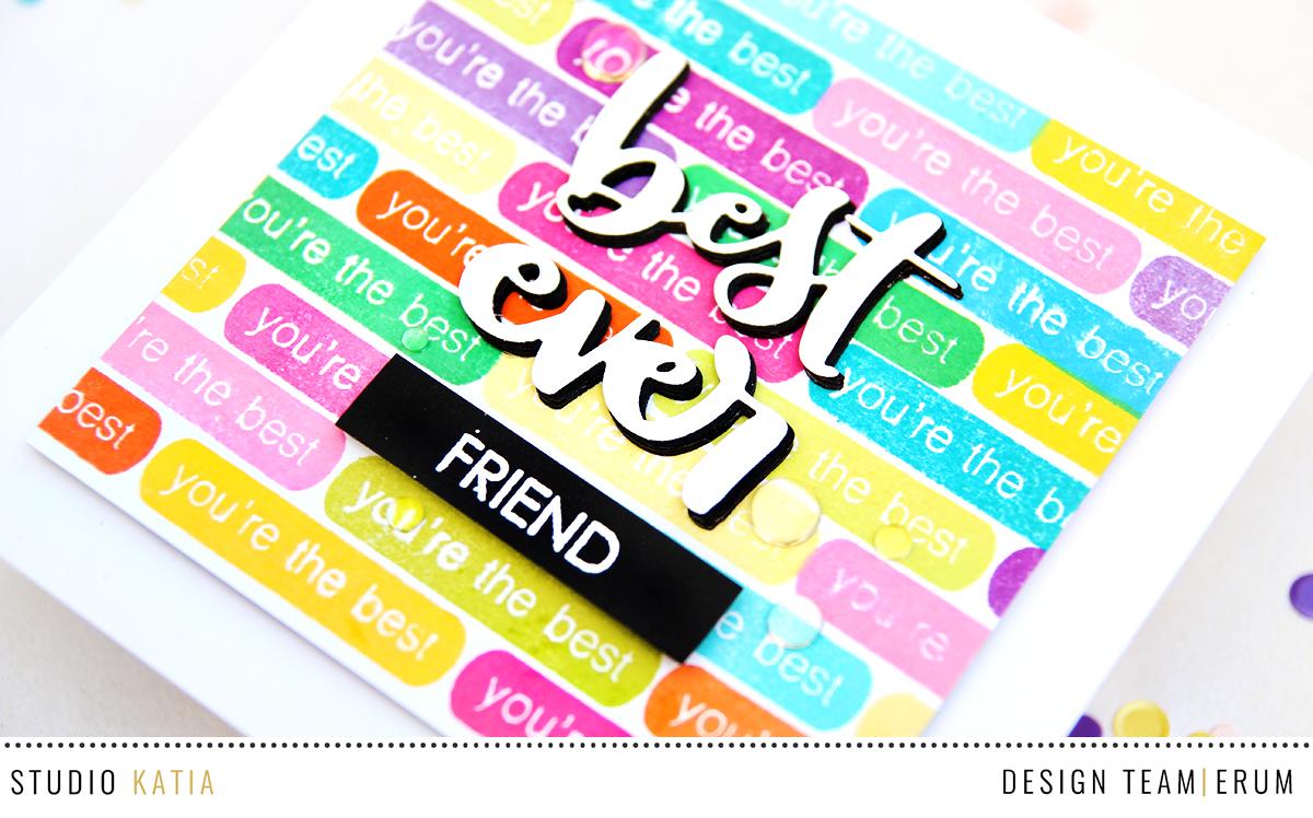 Studio Katia Label Messages Stamp Set and Best Ever Die Set | Erum Tasneem | @pr0digy0