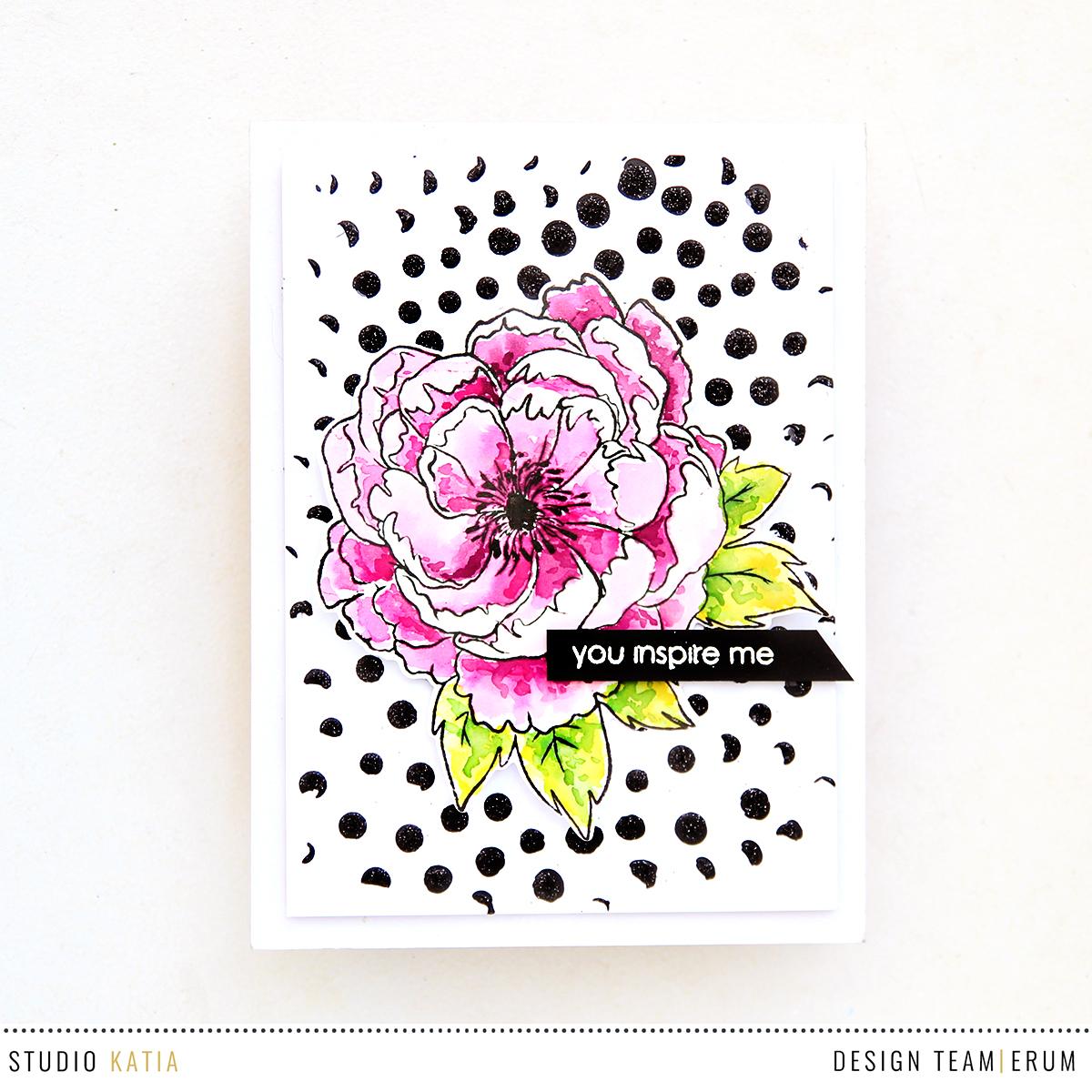 Studio Katia Japanese Peony | Confetti Stencil | Erum Tasneem | @pr0digy0