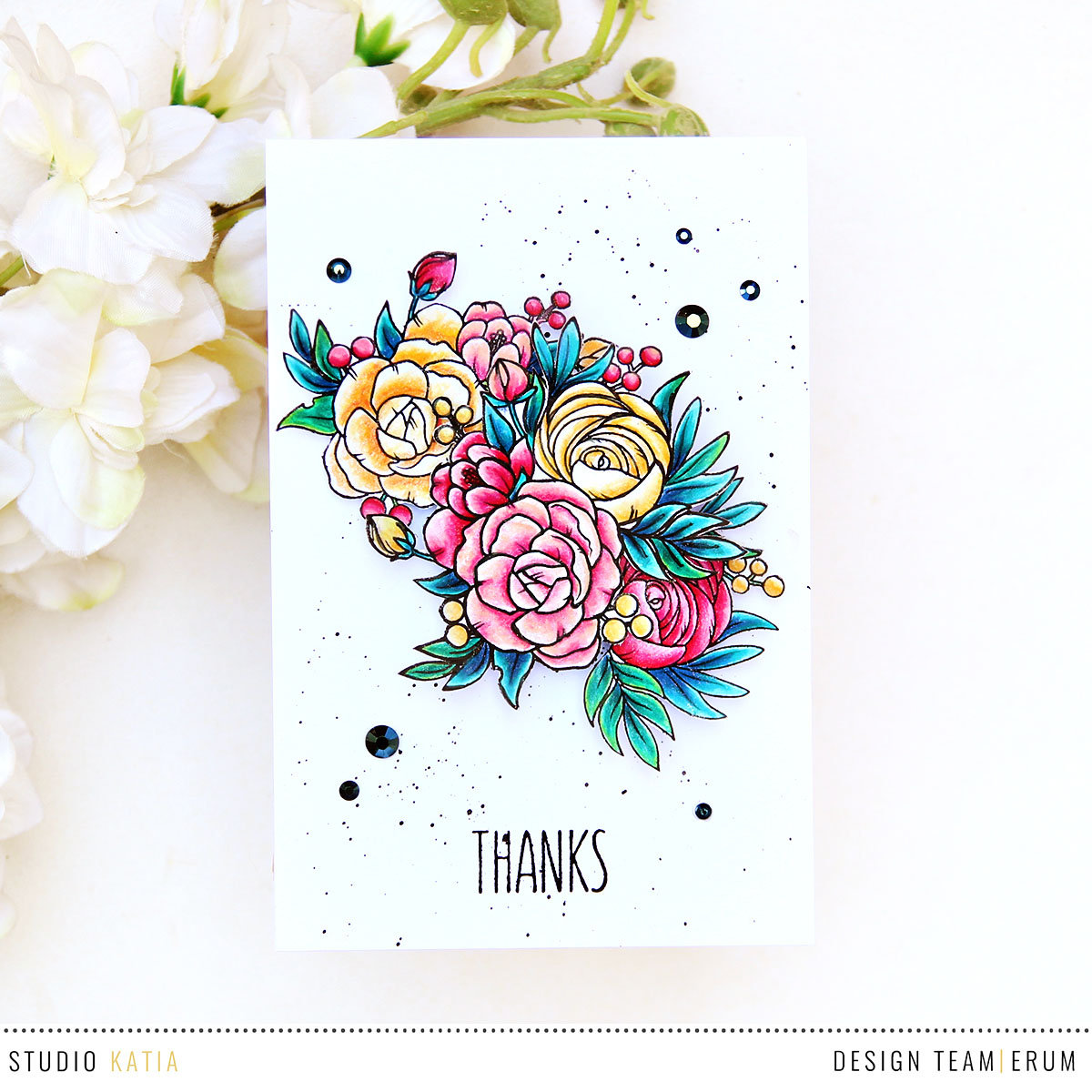 Studio Katia A Cup of Thanks Stamp Set | Erum Tasneem | @pr0digy0