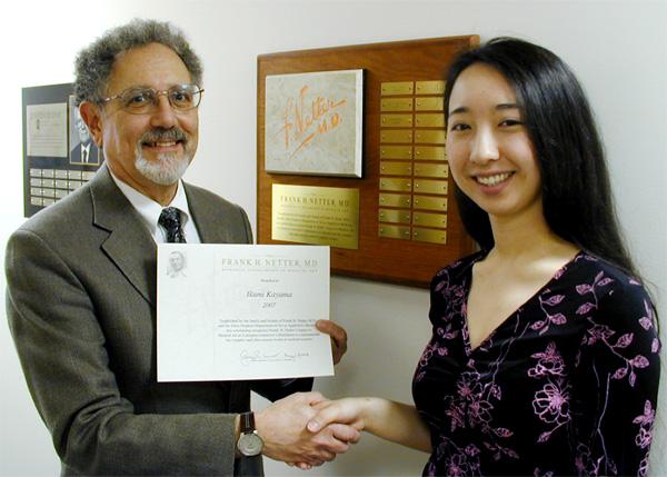 Ikumi Kayama recipient of Frank Netter Award medical art