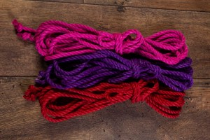 Pink, purple and red Ogawa 6mm Jute rope