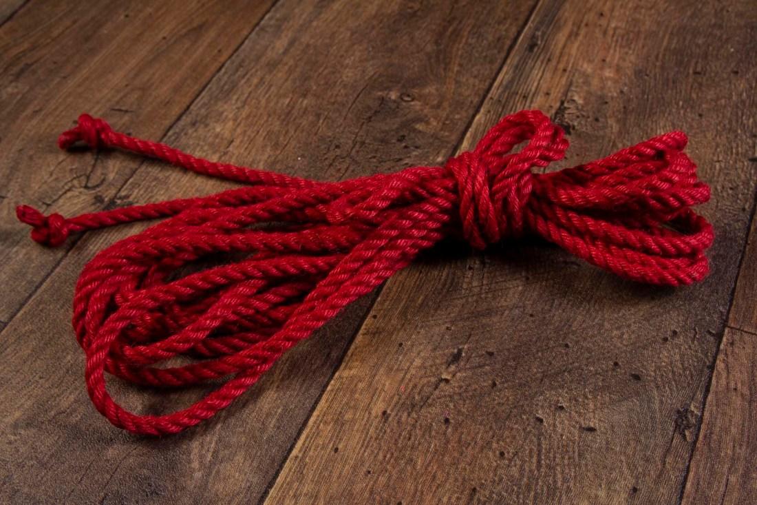 Red Ogawa 6mm Jute rope