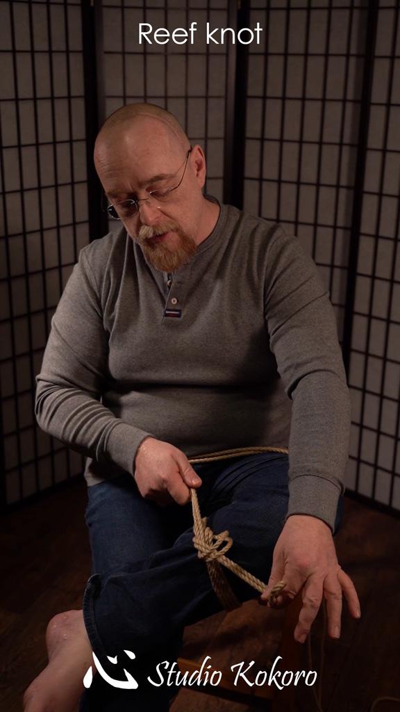 Studio Kokoro Shibari rope Tutorial Reef knot