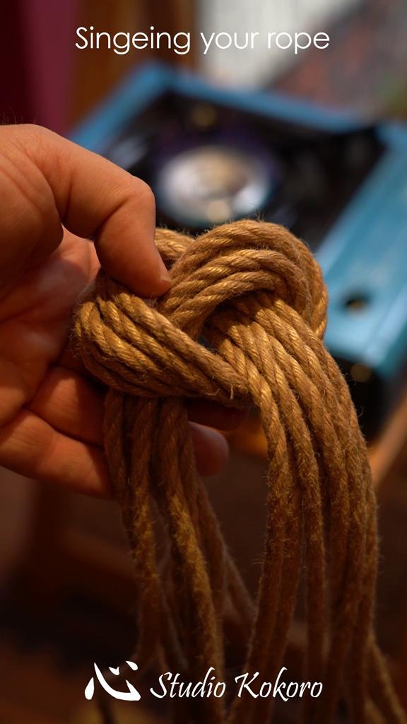 Studio Kokoro Shibari rope Tutorial Singeing rope